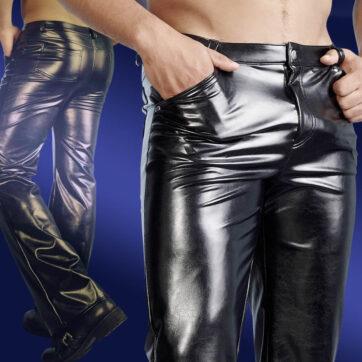 læderlook bukser