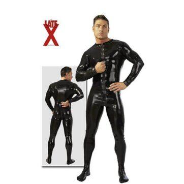 Latex heldragt i sort til mænd