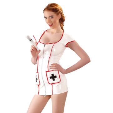 sygeplejerske-minikjole-i-lak-1