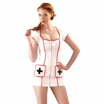 Sygeplejerske minikjole i lak