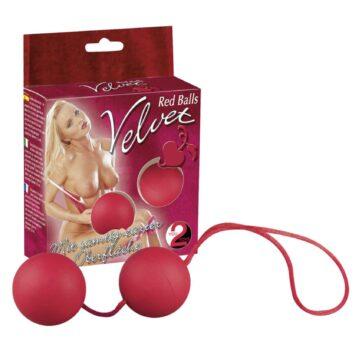 Velvet Red Balls Bækkenbundskugler