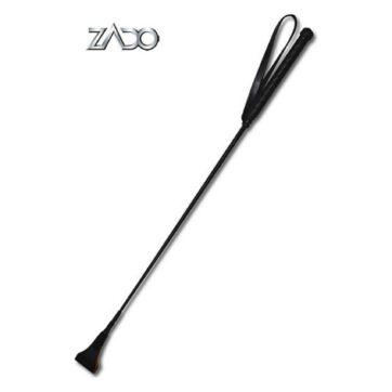 Zado sort læder ridepisk