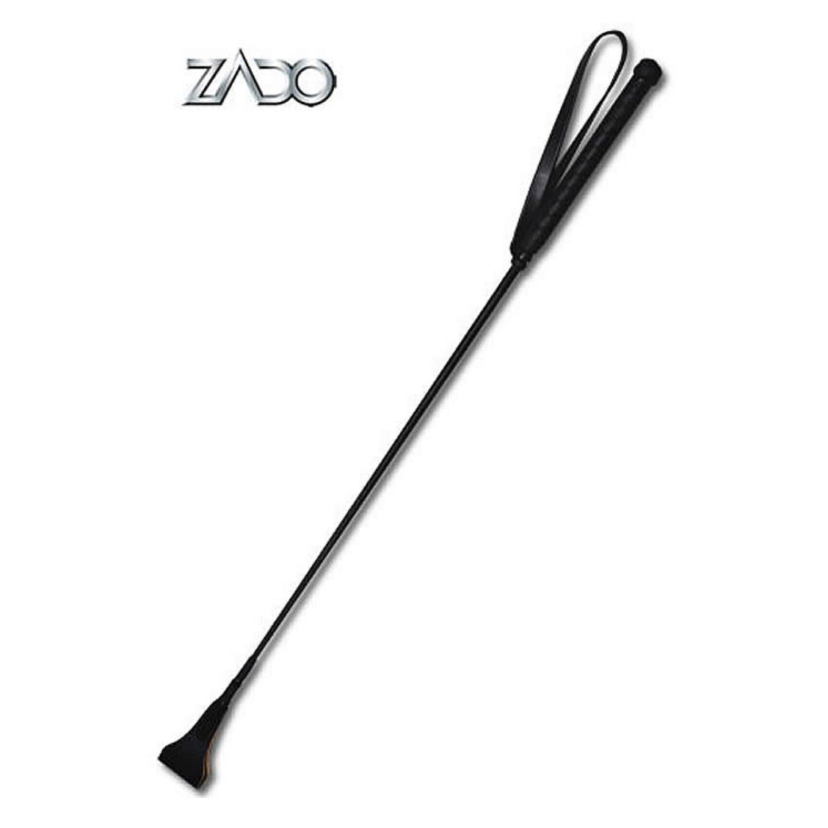 Køb Zado sort læder ridepisk