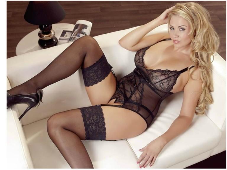 Camisette Sæt i Sort med Blonder   Sex med ren samvittighed