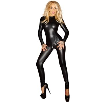Noir Exclusive Wetlook Heldragt Catsuit