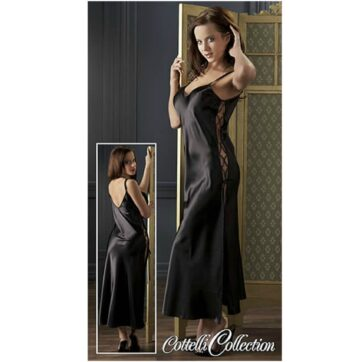 Satin Neglige i Sort