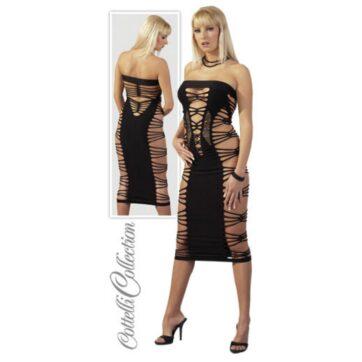 Erotisk Kjole med åben Trådoptik