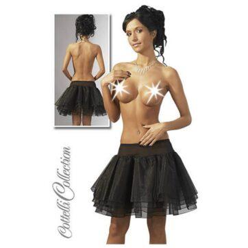 Fræk Petticoat i Sort ( miniskirt )