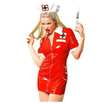 Lak Sygeplejerske kostume