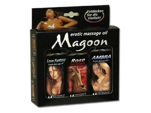 Magoon 3 x 100 ml Massageolie sæt