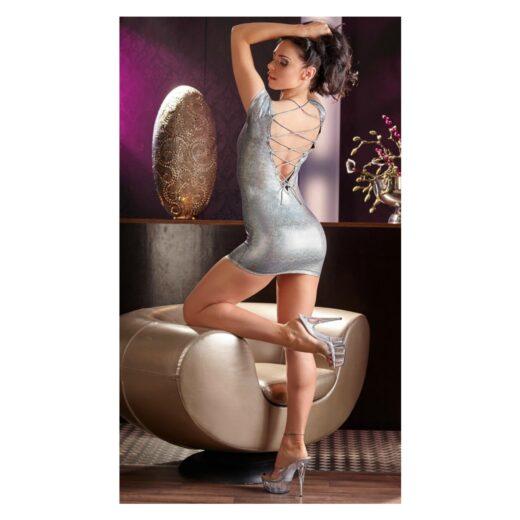 Minikjole med sølvfarve