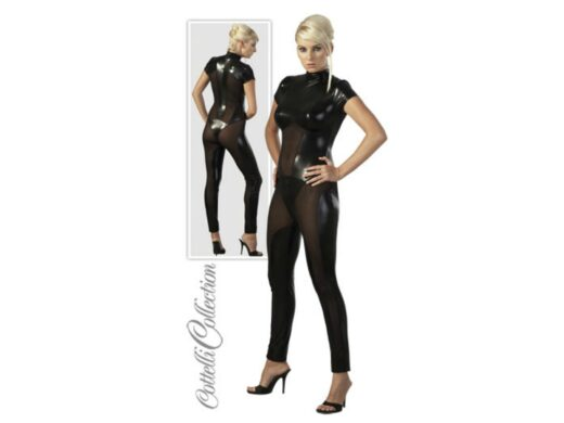 Wetlook Catsuit i Sort