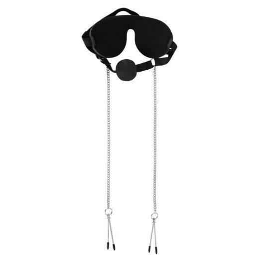 Bad Kitty Maske, Gag Ball og Nipple Klemmer