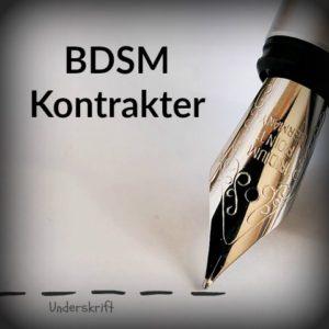 bdsm kontrakt