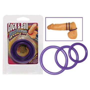 Cock & Ball Penisringe med 3 ringe