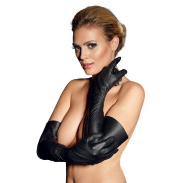 Læder Handsker Lang Model