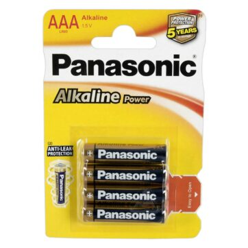 Panasonic AAA Alkaline Micro Battrier