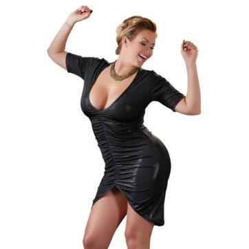 kjole med draperinger