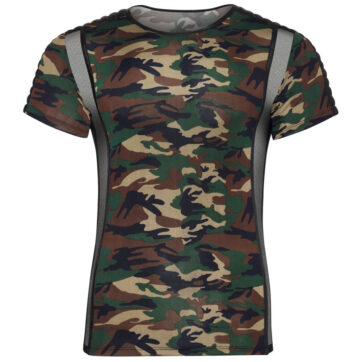 Camouflage Shirt med Net til Herre
