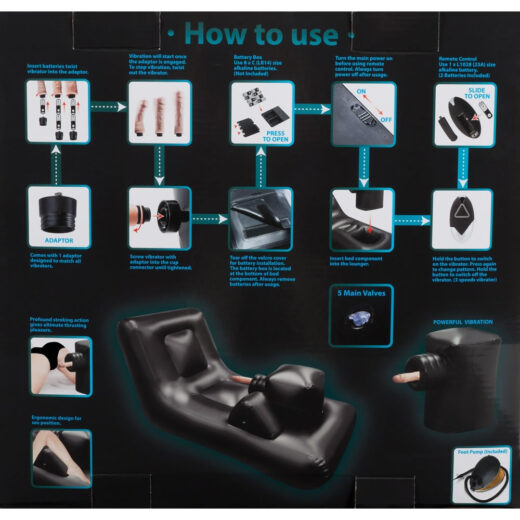 Sexmaskine Dark Magic Thrusting Bed