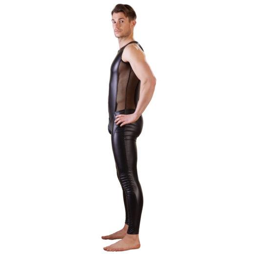 Wetlook Jumpsuit med Biker Style
