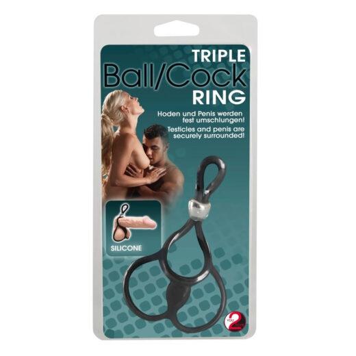 Penisring Triple Ball & Cock Ring med Testikelringe