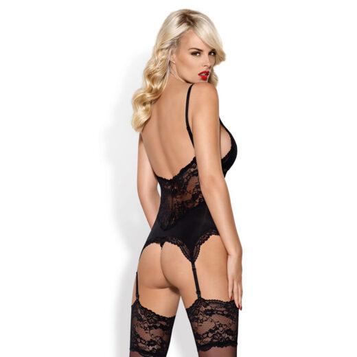 Obsessive Vanessa Blonde Bustier med Strømpeholdere