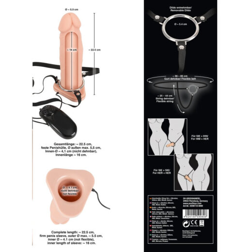 Silikone Strap-On Vibrator