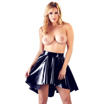 Lak Nederdel med Plissering