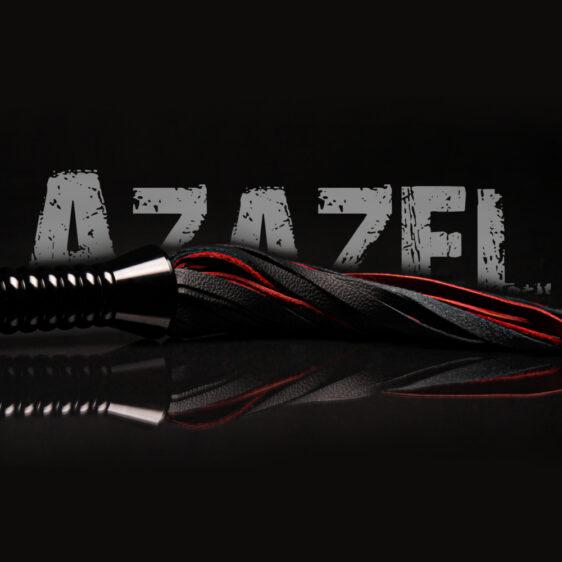 Azazel læderflogger med tekst
