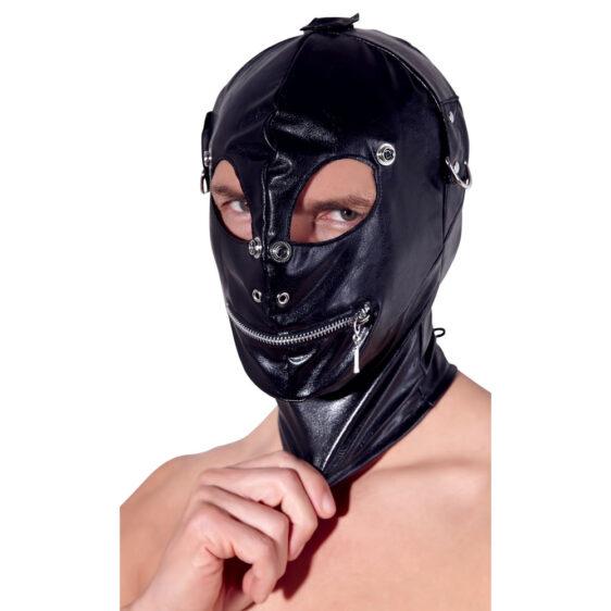 Fetish Maske i Læderlook