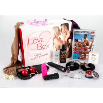Love Box - Pakke med Sexlegetøj og Lingeri til Par