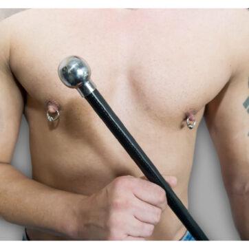 Spanking Stick i nappa-læder og flot håndtag