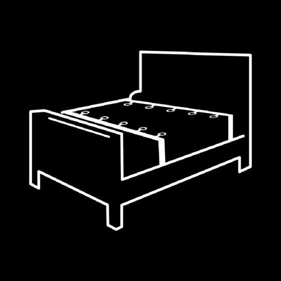 FETISH SUBMISSIVE LUXURY BED RESTRAINTS SET