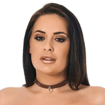halsbånd i blødt nappalæder brun